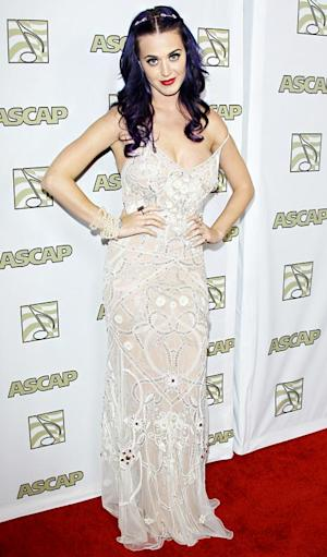 Katy Perry Risks Nip Slip in Slinky Gown