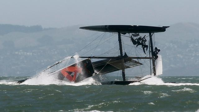 Sailing: America's Cup holder Oracle capsizes boat
