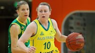 Kristi Harrower of the Opals who are hoping to upset gold medal favourites USA