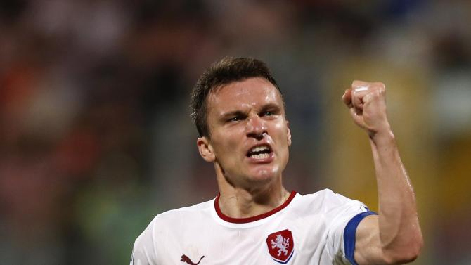 Czech Republic's Lafata celebrates scoring a goal against Malta during their 2014 World Cup qualifying soccer match outside Valletta
