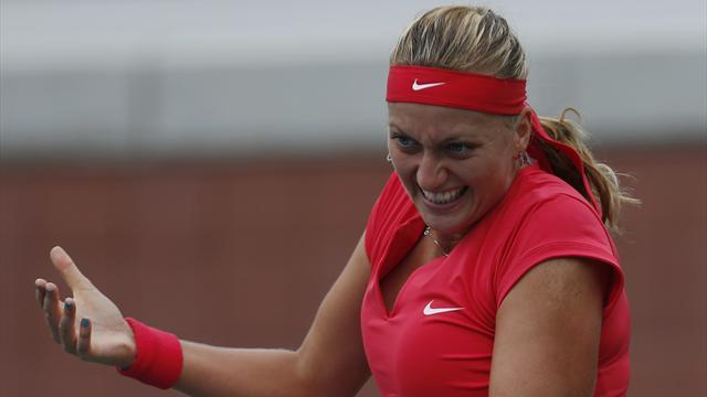US Open - Ill Kvitova falls to Riske