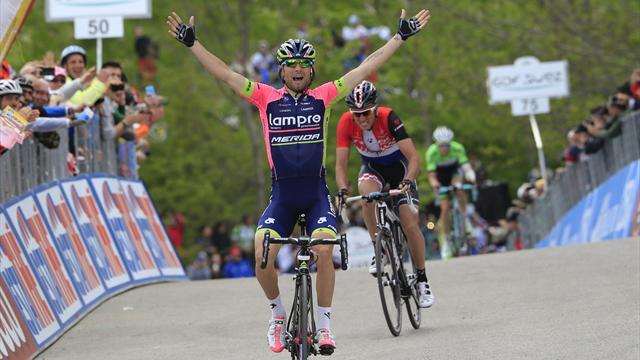 Giro d'Italia - Ulissi wins thriller as Evans takes pink jersey