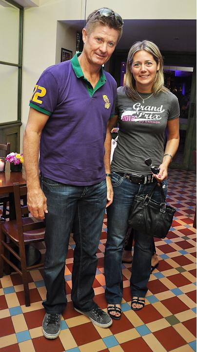 Trevor Lionel Penney is a former cricketer who played for Warwickshire County Cricket Club during the Kolkata Knight Riders Team Dinner at Pizza Metro in Mumbai on May 5, 2013 (Photo: IANS)