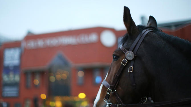 Celtic fan arrested for throwing a hamburger at a horse