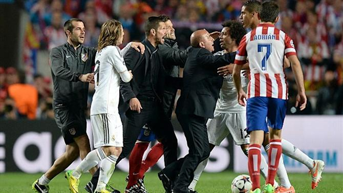 Champions League - Simeone, Alonso charged by UEFA after final fracas