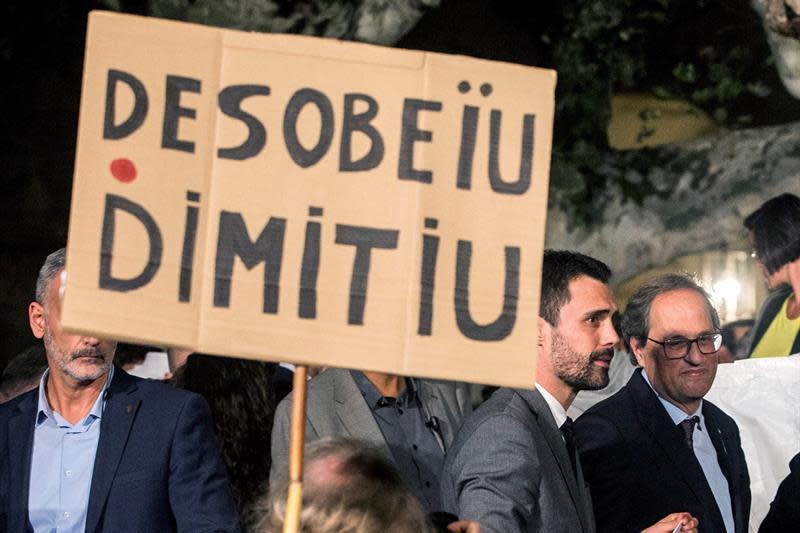 El sindicato de funcionarios pide la dimisión de Torra