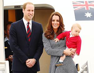 Kate Middleton, Prince William Leave Australia With Prince George: Pictures