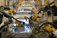 Volkswagen cars are manufactured in Wolfsburg, Germany. Eurozone private sector activity suffered its worst monthly slide in nearly three years in May, a survey has shown