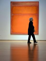 """Mark Rothko's """"Orange, Red, Yellow"""" on display at Christie's in New York on May 4. The painting became the world's most expensive contemporary art work when it fetched $86.9 million in a stunningly lucrative auction at Christie's"""