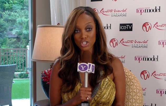 Yahoo! Singapore catches up with supermodel-turned-super mogul Tyra Banks. (Yahoo! photo/ Fann Sim)