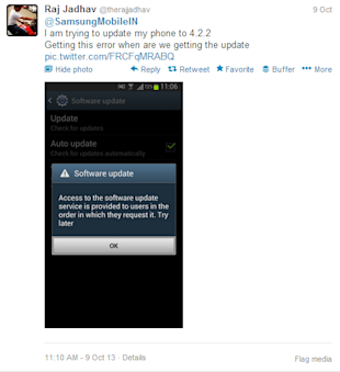 How White Good Brands are Managing their Customer Support on Social Media image Samsung Mobile India Customer Support