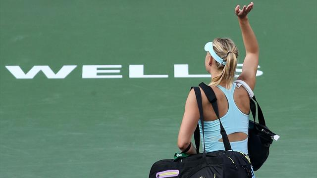 Tennis - Sharapova beaten by qualifier at Indian Wells