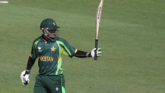 Mohammad Hafeez hit his seventh one-day international century against Sri Lanka in Sharjah.