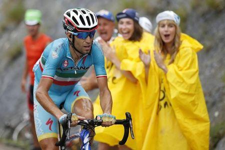 Astana rider Vincenzo Nibali of Italy cycles during the 19th stage of the 102nd Tour de France cycling race