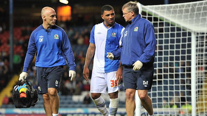 Colin Kazim-Richards, centre, hobbled off the pitch after scoring the winner