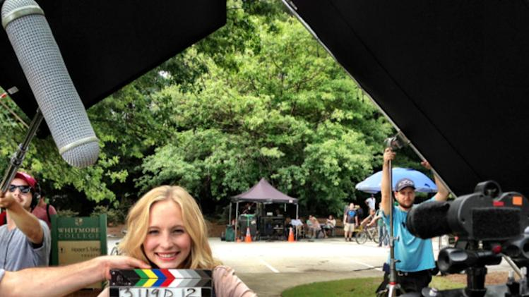 Back to School - first day of shooting The Vampire Diaries Season 5 w/ miss @CandiceAccola ! :)