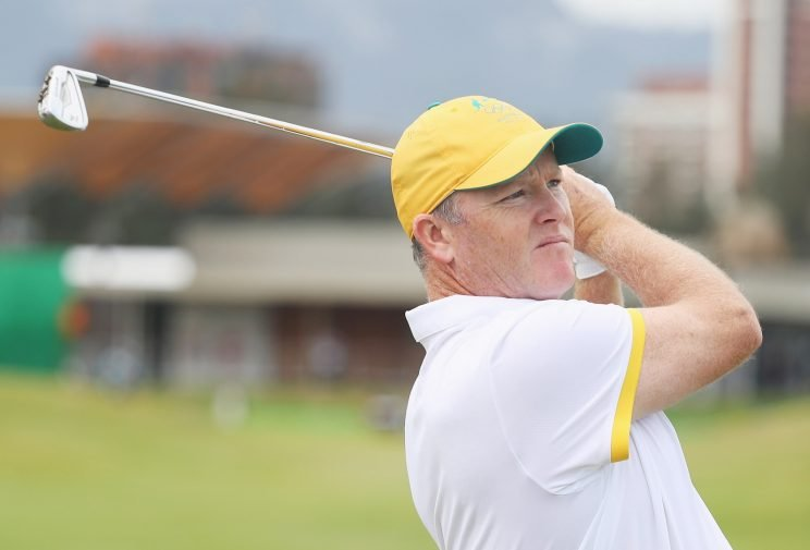 Marcus Fraser maintains the lead in the Olympic golf tournament. (Getty Images)