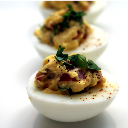 BLT Devilled Eggs