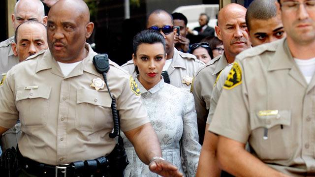 Kim Kardashian at Divorce Hearing That Kris Humphries Skipped