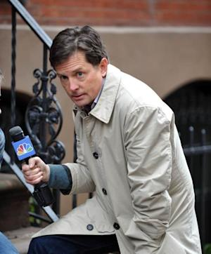 Michael J. Fox films his new comedy for NBC, Jan. 30, 2013 -- Getty Images