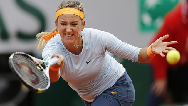 French Open - Azarenka survives lapse to ease through in Paris