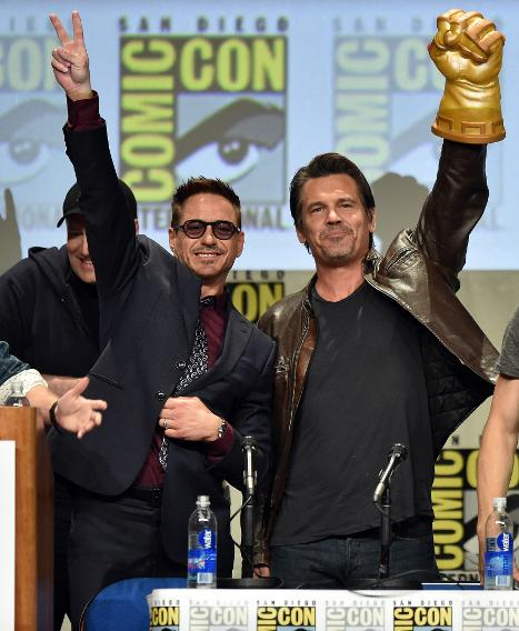 Robert Downey Jr. and Josh Brolin