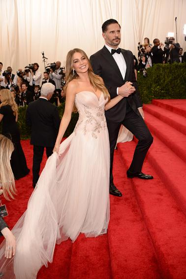 Sofia Vergara in Marchesa with Joe Manganiello.