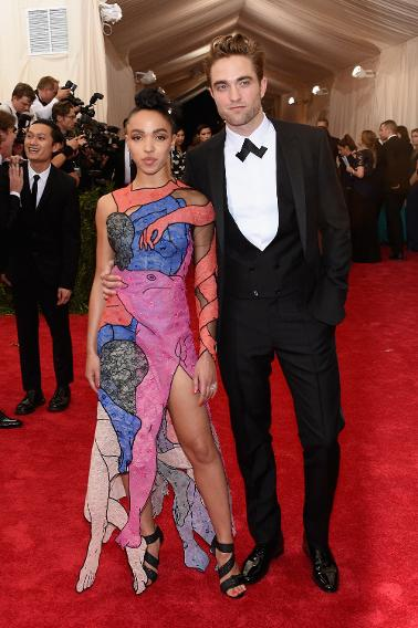 FKA Twigs in Christopher Kane with Robert Pattinson.