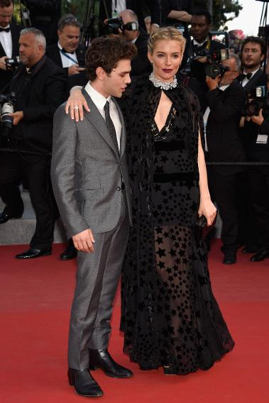 "Sienna Miller in Sonia Rykiel at the ""Carol"" premiere during the 68th annual Cannes Film Festival."