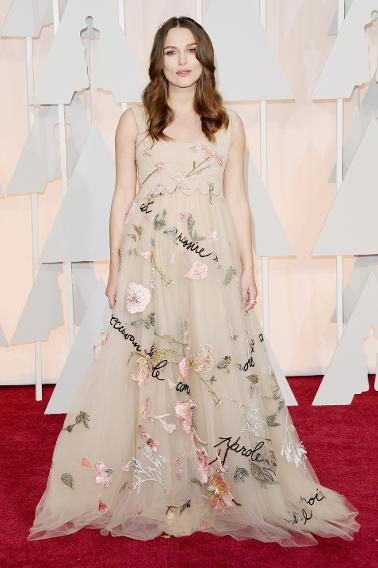 WORST: Keira Knightley in Valentino Haute Couture