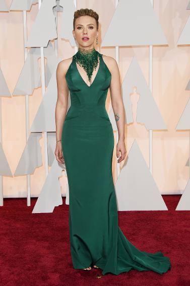 WORST: Scarlett Johansson in Versace