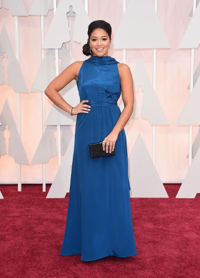 BEST: Gina Rodriguez in Suzy Cameron's Red Carpet Green Dress
