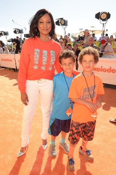 Garcelle Beauvais with her twin sons