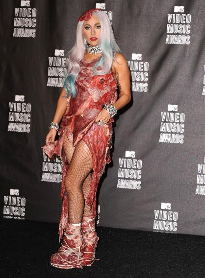 Lady Gaga's Meat Dress at the 2010 MTV Video Music Awards
