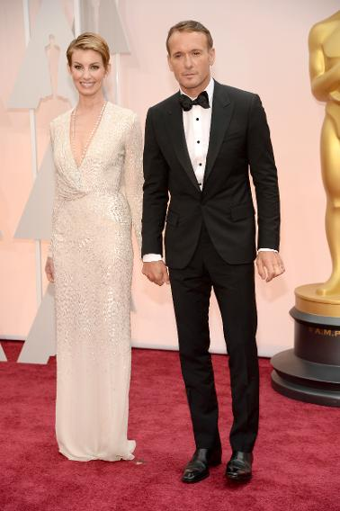 BEST: Faith Hill in J.Mendel and Tim McGraw in Lanvin