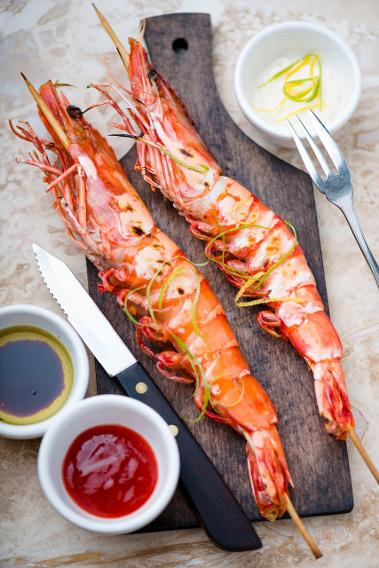 Grilled Garlic-Lime Shrimp