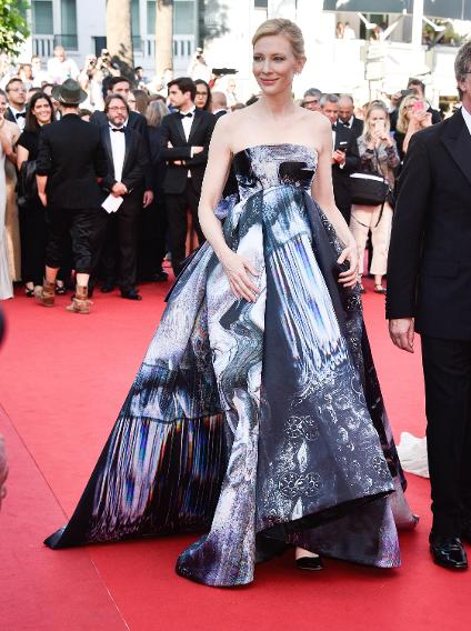 "Cate Blanchett in Giles at the ""Carol"" premiere during the 68th annual Cannes Film Festival."