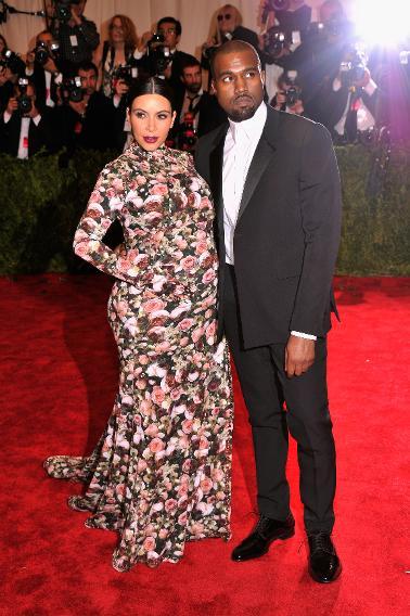 Kim Kardashian in Custom Givenchy at the Met Ball, 2013