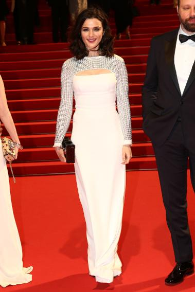 "Rachel Weisz in Louis Vuitton at the premiere of ""The Lobster"" during the 68th annual Cannes Film Festival."