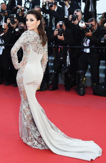 Eva Longoria's Gabriela Cadena dress from the back.