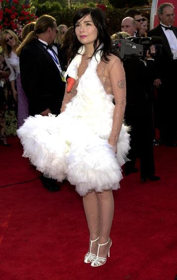 Bjork in the Swan Dress, 2001