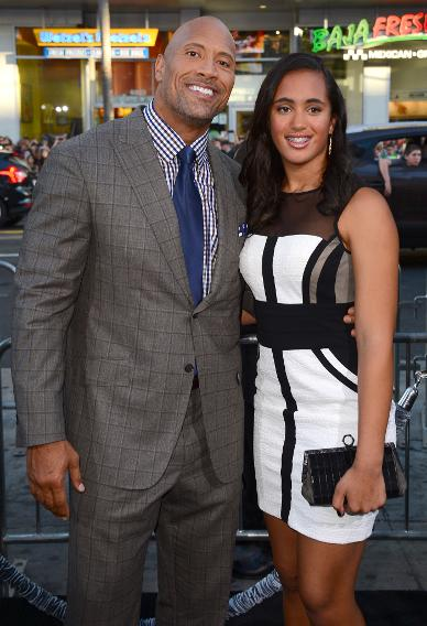 Dwayne Johnson and Simone Johnson