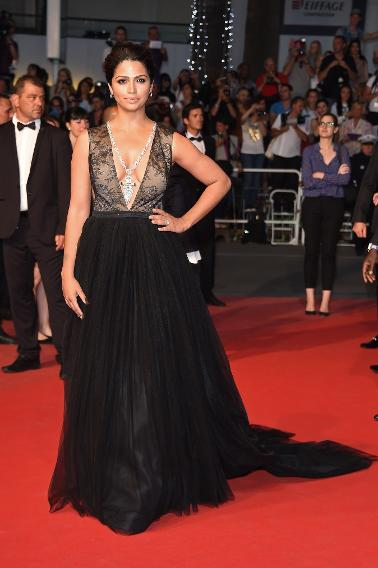 "Camilla Alves in Gabriela Cadena at ""The Sea of Trees"" premiere during the 68th annual Cannes Film Festival."