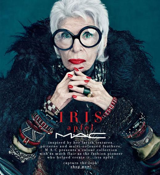 Iris Apfel, 92, for MAC