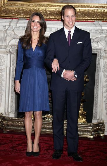 Kate Middleton's Blue Issa Engagement Dress