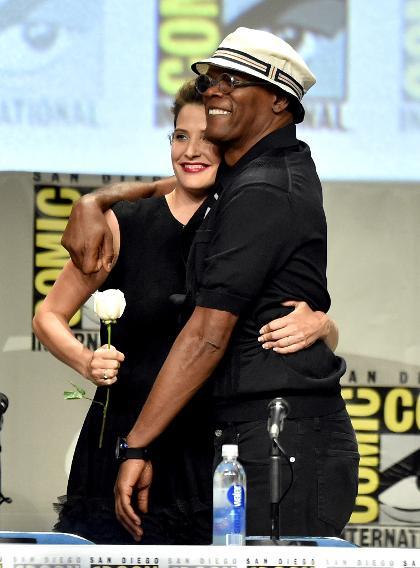 Cobie Smulders and Samuel L. Jackson