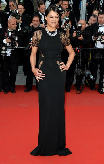 """Michelle Rodriguez  attends the """"Irrational Man"""" premiere during the 68th annual Cannes Film Festival."""