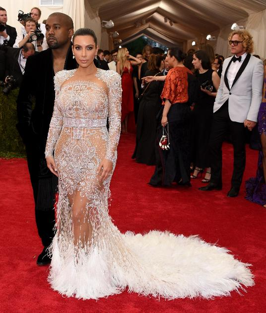 Kim Kardashian in Peter Dundas for Roberto Cavalli.