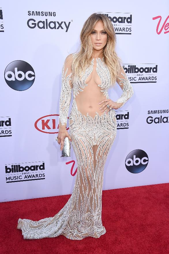Jennifer Lopez looks like a figure skater at the 2015 Billboard Music Awards.