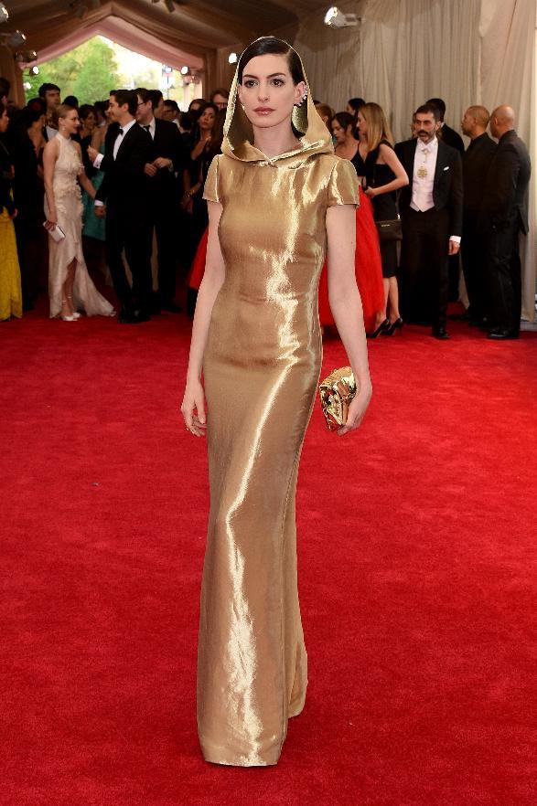 Anne Hathaway in Ralph Lauren.